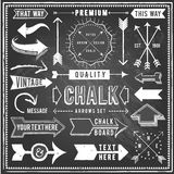 Vintage Chalkboard Arrows Royalty Free Stock Photo