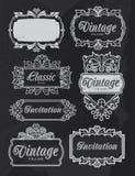 Vintage chalkboard banner frames Royalty Free Stock Image
