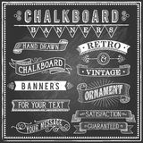 Vintage Chalkboard Banners Stock Photography
