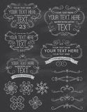 Vintage ChalkBoard Frames and Elements royalty free stock photos