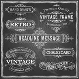 Vintage Chalkboard Frames Stock Photo