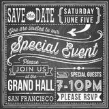 Vintage Chalkboard Invitation Royalty Free Stock Images