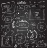 Vintage chalkboard labels set, vector Royalty Free Stock Images