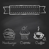 Vintage chalkboard menu vector illustration