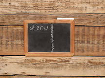 Vintage chalkboard menu Stock Photo