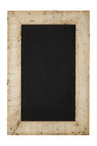 Vintage Chalkboard Reclaimed Wood Frame Isolated On White Stock Photography