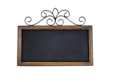 Vintage chalkboard on white background Stock Photos