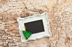 Vintage chalkboard on wood Stock Images