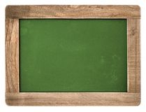 Vintage chalkboard wooden frame white background. Vintage chalkboard with wooden frame isolated on white background Stock Photography