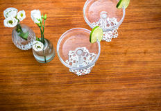 Vintage champagne table Royalty Free Stock Photo