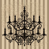 Vintage chandelier on antique background Royalty Free Stock Photo