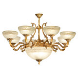 Vintage chandelier isolated on white. Background with clipping path royalty free stock photography