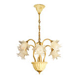 Vintage chandelier isolated on white. Background with clipping path stock photo