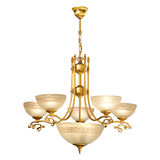 Vintage chandelier isolated on white. Background with clipping path stock image