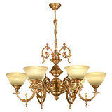 Vintage chandelier isolated on white Royalty Free Stock Image