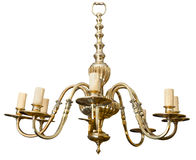 Vintage chandelier isolated. Royalty Free Stock Photo