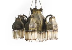 Vintage chandelier isolated on white background Royalty Free Stock Photography