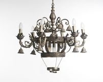 Vintage chandelier isolated on white background Stock Photography
