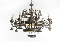 Vintage chandelier isolated on white background Royalty Free Stock Photo