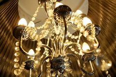 Vintage chandelier lamp Royalty Free Stock Photography