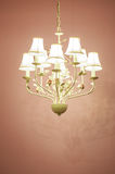 Vintage Chandelier old design Ceiling lamp Royalty Free Stock Photo