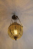 Vintage chandelier, the Palace-fortress in India. The amber Fort, the Palace-fortress in India Stock Photo