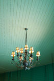 Vintage chandelier in room Royalty Free Stock Image