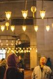 Vintage chandelier of the Süleymaniye royalty free stock images