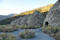Vintage Charcoal Kilns. Built in a Row Located in Death Valley Desert, California Stock Photography