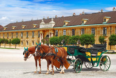 Vintage chariot. For tourist transportation Stock Images