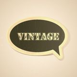 Vintage Chat Bubble Stock Photography