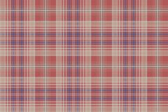 Vintage check plaid fabric texture seamless pattern. Vector illustration Royalty Free Stock Images