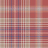 Vintage check plaid fabric texture seamless pattern. Vector illustration Stock Photography