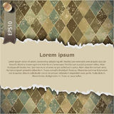 Vintage checkered background, with space for your text Royalty Free Stock Photography