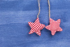 Vintage checkered christmas decoration Royalty Free Stock Photography