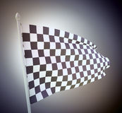 Vintage checkered flag Royalty Free Stock Image