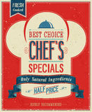Vintage Chef`s specials Poster. Royalty Free Stock Image