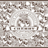 Vintage Cherry Label On Seamless Pattern libre illustration