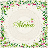 Vintage cherry plant menu background Stock Image