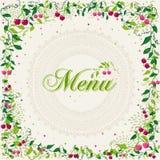 Vintage cherry plant menu background Stock Image