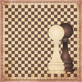 Vintage chess background Royalty Free Stock Photography