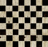 Vintage chess board. Vintage checkered chess board background Royalty Free Stock Photo