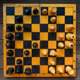 Vintage chess board game Stock Photo