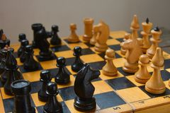 Vintage chess - board game, Stock Photography