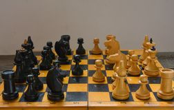 Vintage chess - board game, Royalty Free Stock Photos