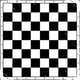 Vintage chess board, vector. Royalty Free Stock Photos