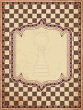Vintage chess card Stock Images