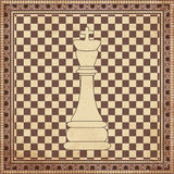 Vintage chess king background. Vector illustration Royalty Free Stock Images