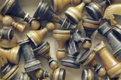 Vintage chess stock photos