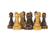 Vintage Chess Pawns Socializing Stock Images